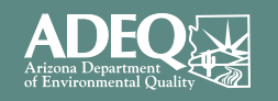 Logo of ADEQ Arizona Department of Environment Quality
