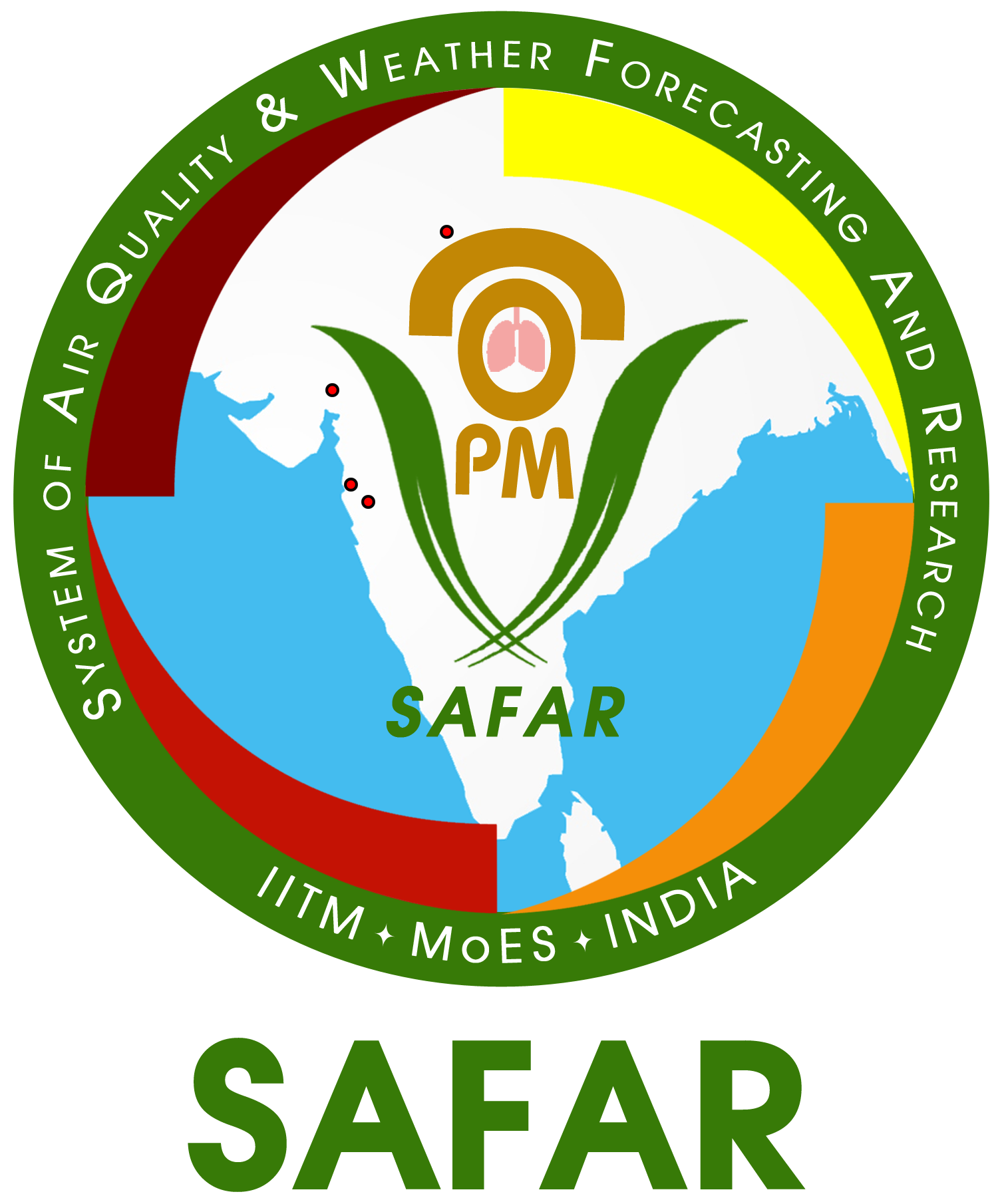 Logo of India System of Air Quality and Weather Forecasting And Research (SAFAR)